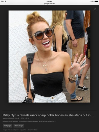 top jewels necklace layered crescent pendant jewelry miley cyrus celebstyle for less celebrity celebrity style