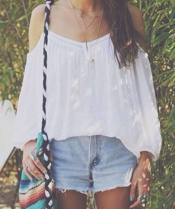 blouse white peasant blouse; off the shoulder; boho shirt pinterest tumblr tumblr outfit white white top gypsy gypsy-style top