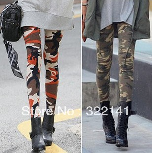 Free Shipping ,2013 Spring New Arrival Fashion Camouflage Pants Camouflage Leggings Personality Slim Pants, Camo Bottoms, CC0006-in Leggings from Apparel & Accessories on Aliexpress.com