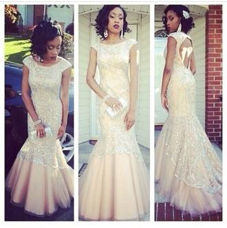 prom dress prom fishtail dress champagne prom dress sparkly