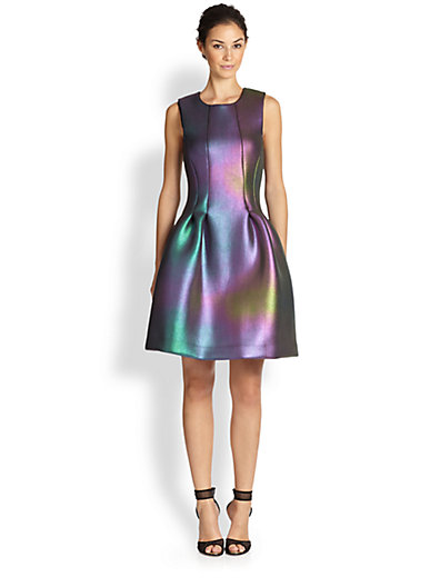 Cynthia Rowley - Seamed Iridescent Dress - Saks.com