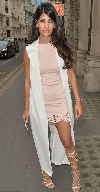 dress vest nude nude dress jasmin walia sandals lace up summer outfits mini dress gladiators shoes