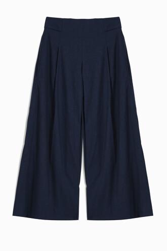 culottes denim blue pants