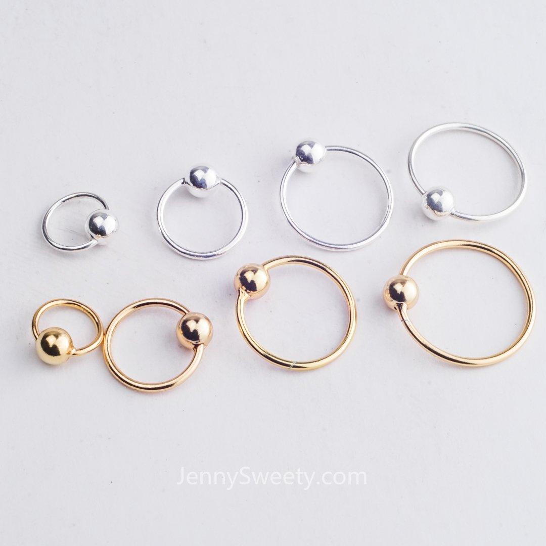 7a4767c15 Silver Helix Tragus Daith Earring Hoop Cartilage Hoop Earrings Cartilage  Piercing Helix Piercing