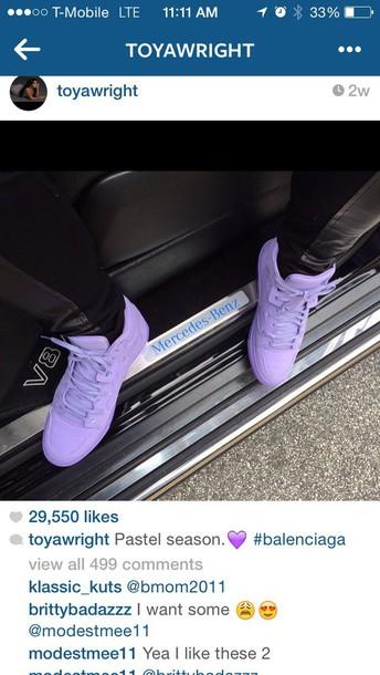 shoes, pastel purple sneakers, pastel