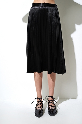 skirt metallic pleated skirt