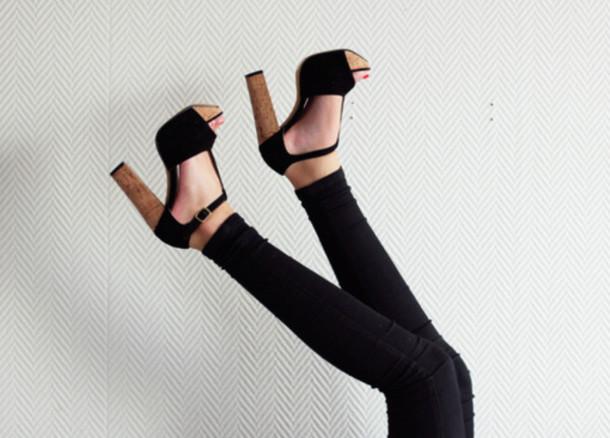shoes high heels heels black high heels cute high heels wood wedges wood heels black wedges wooden black tstrap platform shoes platform shoes platform heels thick heel t-strap heels ankle strap heels