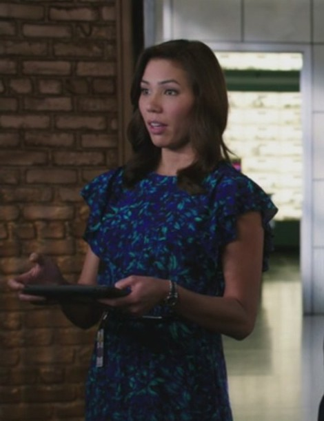 dress,blue,bones tv show,angela montenegro