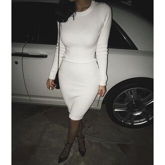 dress white cotton dress shirt white top white bottom kylie jenner white dress