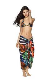 swimwear,agua bendita,cover up,print,bikiniluxe