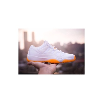 shoes sneakers cute white style jordans dope cool orange