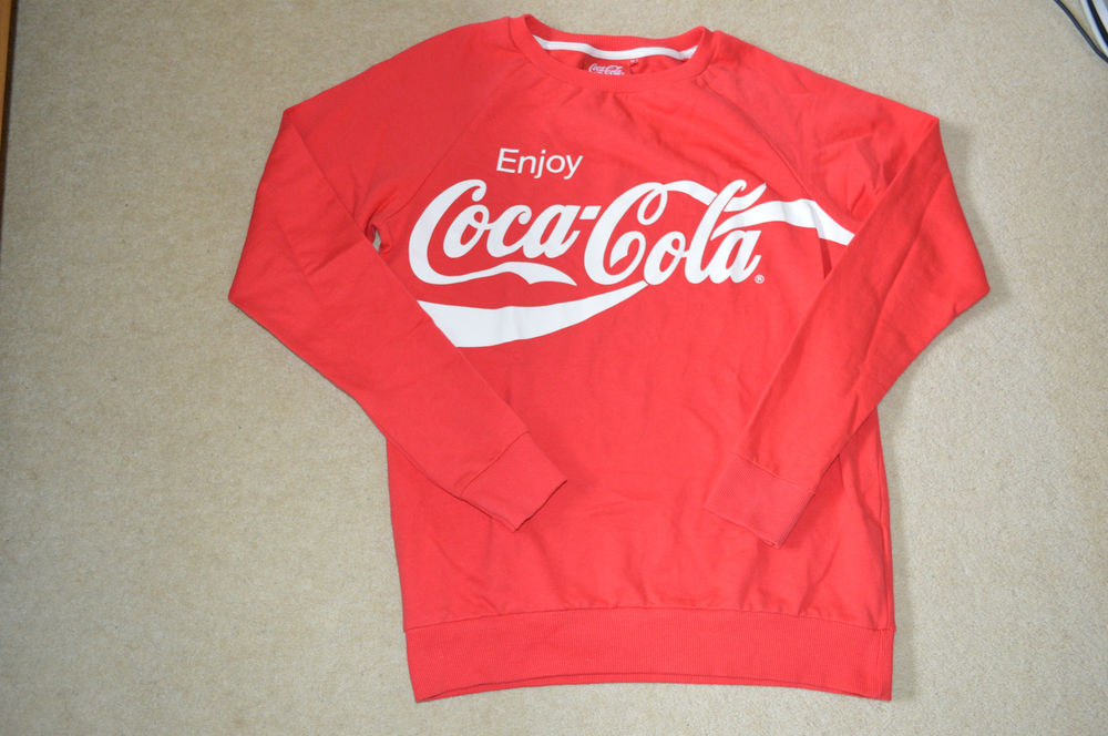 Coca cola coke vintage jumper sweater traditional red/white size 10 small xs