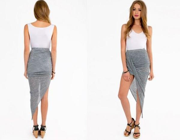 skirt dream closet couture asymmetrical skirt high low skirt chic couture