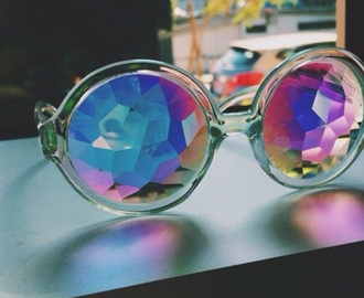 sunglasses rainbow round frame glasses round sunglasses cool