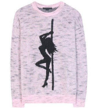 sweater oversized mohair pink