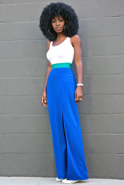 blogger tank top skirt shoes