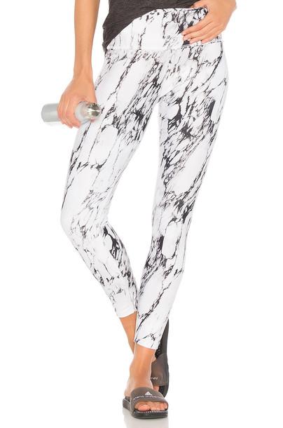 Beyond Yoga cross back white pants