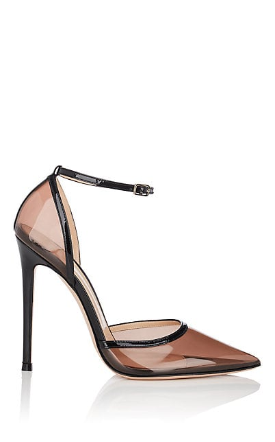 Gianvito Rossi Sabin PVC & Patent Leather Ankle-Strap Pumps   Barneys New York