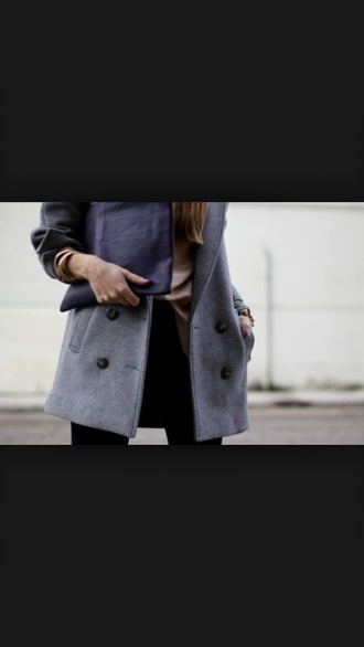 coat grey grey coat leather jacket grey jacket jacket leather leather sleeves style sleeves cute classy