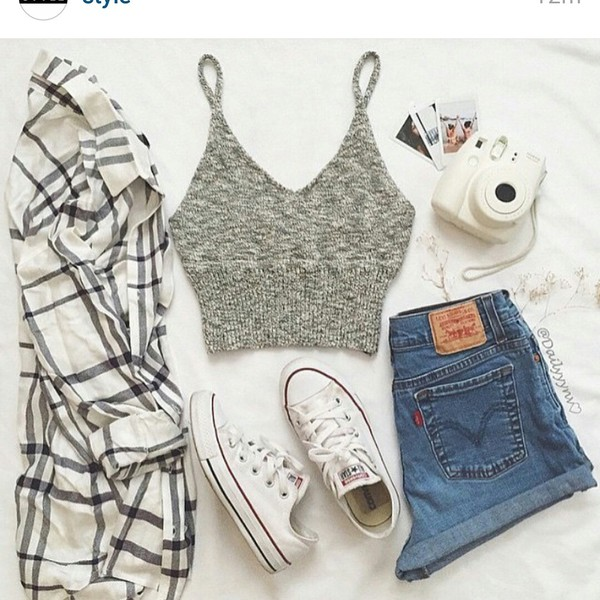 Knitted crop top top blouse crop tops shoes jeans for How to get foundation out of a white shirt