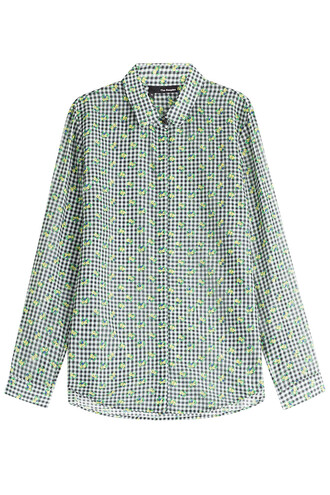 blouse cotton silk multicolor top