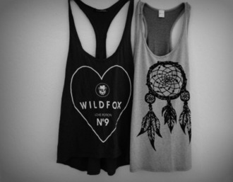 grey shirt black summer tumblr grey t-shirt black t-shirt dream catcher t-shirt tank top shirt clothes dreamcatcher hipster cute blouse top