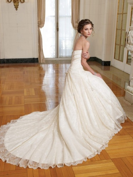 dress wedding country white long off-white summer fall strapless strapless dress lace dress