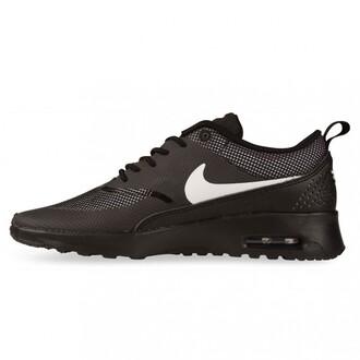 shoes white tick nike airmax thea black leather airmax air max nikes
