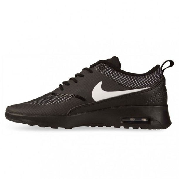 nike air max thea black with white tick