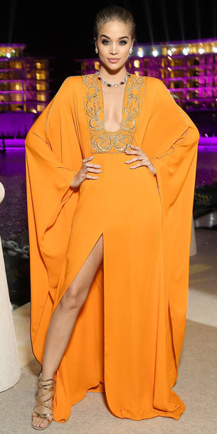 dress orange orange dress sandals jasmine sanders maxi dress slit dress gown prom dress