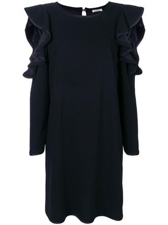 dress midi dress pleated women midi blue