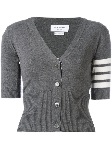 Thom Browne cardigan cardigan women grey sweater