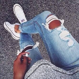 jeans boyfriend jeans ripped jeans