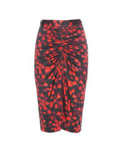 Givenchy skirt printed skirt red