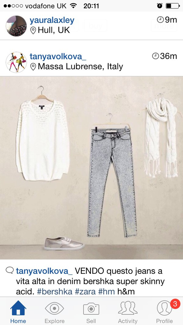 jeans shoes scarf