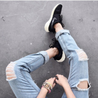 boyfriend jeans ripped jeans light blue boyfriend jeans