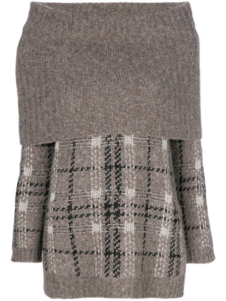 Max Mara Studio jumper women wool grey sweater