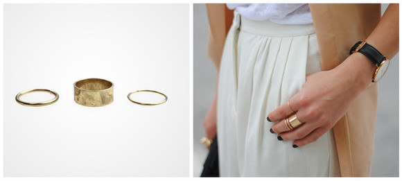 ring jewels gold rings gold rings nail polish skirt