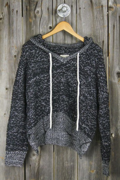 Sweater: grey, top, hoodie, cropped, crop tops, grey sweater, grey ...