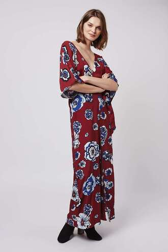 jumpsuit kimono floral wedding clothes red dress