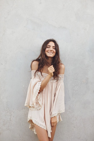 dress off the shoulder dress summer dress white white dress off-shoulder off shoulder bohemian bohemian dress flowy white off shoulder dress off the shoulder