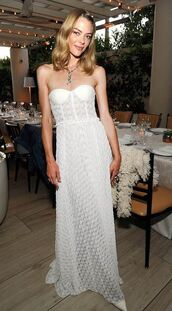 dress,white,white dress,lace dress,long dress,jaime king,strapless,bustier,bustier dress