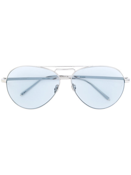 Linda Farrow metal women sunglasses aviator sunglasses grey metallic