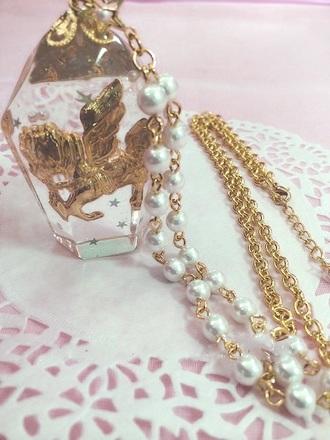 jewels necklace jewel horse kawaii