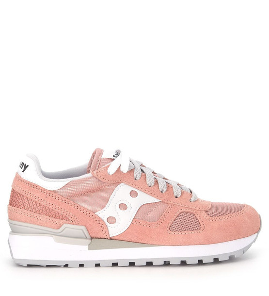 Sneaker Saucony Shadow In Pale Pink Suede And Fabric Mesh