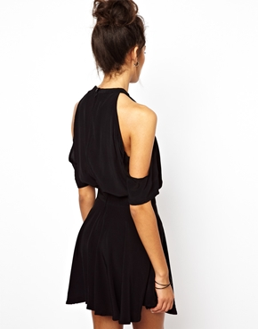 Motel | Motel Sarina Skater Dress With Cut Out at ASOS
