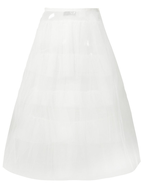 skirt tulle skirt women midi white