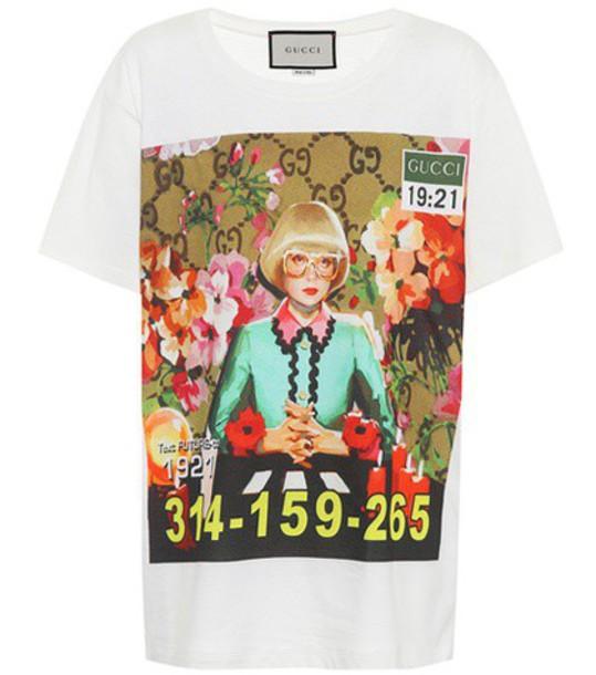 gucci t-shirt shirt cotton t-shirt t-shirt cotton top