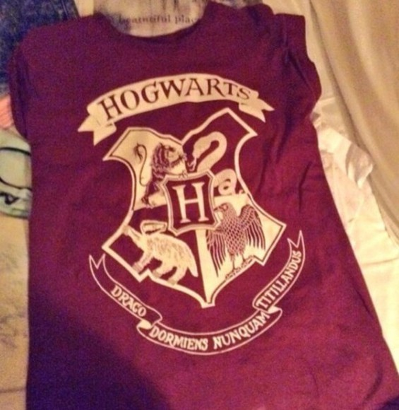 t-shirt hogwarts harry potter