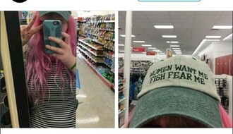 hat cap green white grey cute lgbt bi pretty
